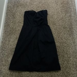 Navy blue strapless dress from the Limited